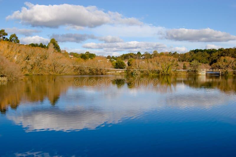 澳洲daylesford湖 库存照片
