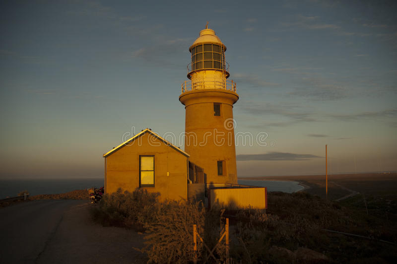 澳洲exmouth海湾灯塔 免版税库存图片