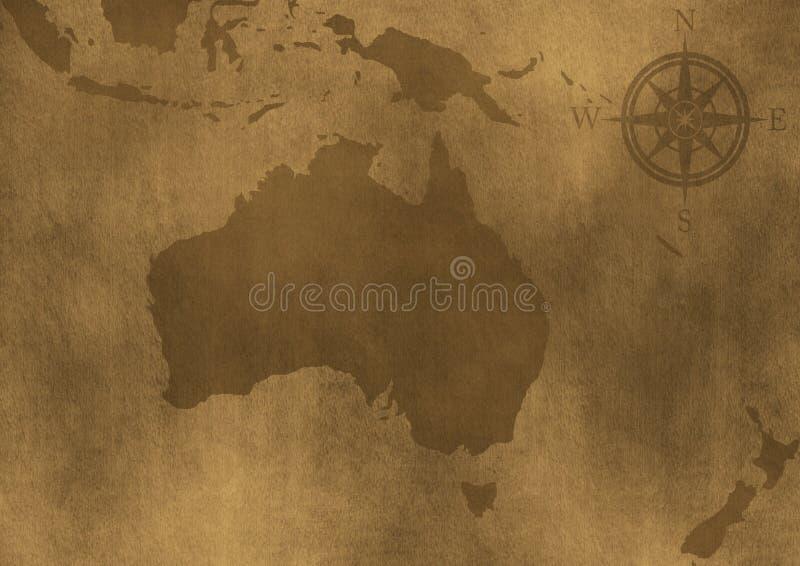 澳洲grunge老例证映射 向量例证