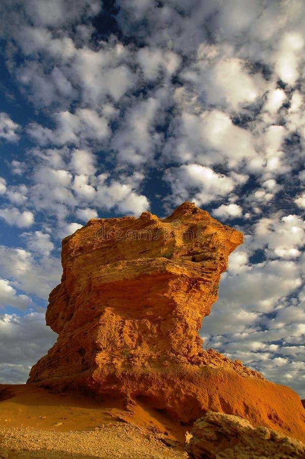澳洲nambung国家公园石峰 免版税图库摄影