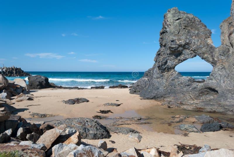 澳洲narooma nsw岩石 图库摄影