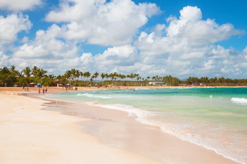 澳门海滩,多米尼加共和国的手段 库存照片
