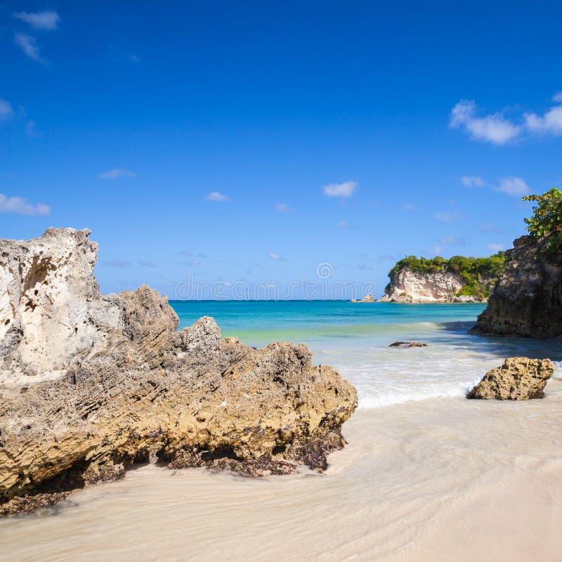 澳门海滩,多米尼加共和国的手段 免版税库存图片