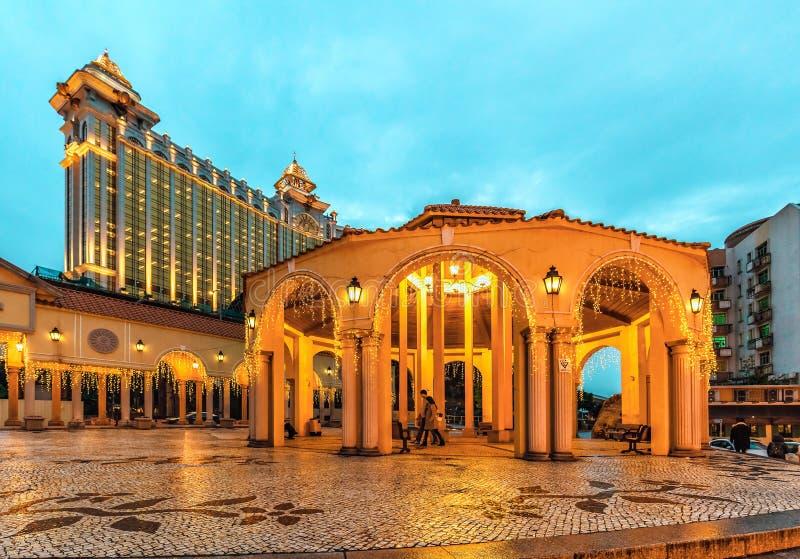 澳门,中国- 2016年1月24日:位于澳门市的中心,老村庄维拉Da Taipa是葡萄牙architectu样品  免版税库存图片
