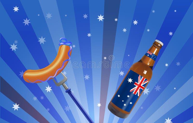 澳洲气球日标志被设置的礼品图标 向量例证