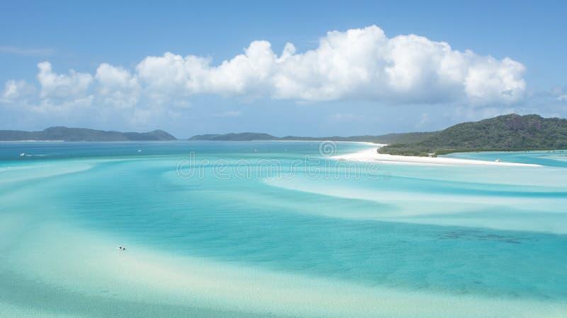 澳洲海滩whitehaven 免版税库存照片