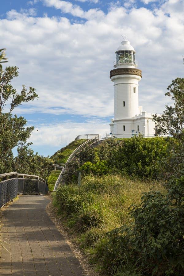 澳洲byron海角最东边的灯塔点 库存图片