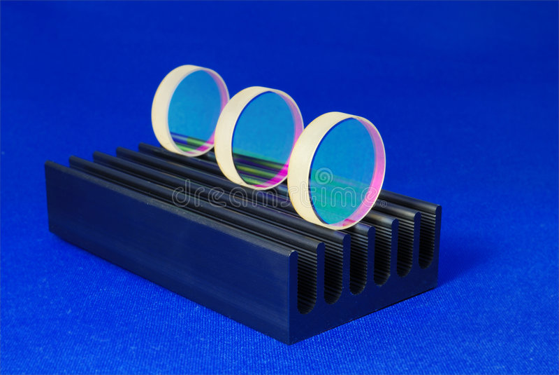 激光光学 免版税库存图片