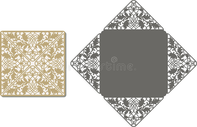 激光削减了邀请卡片的样式婚姻的 皇族释放例证