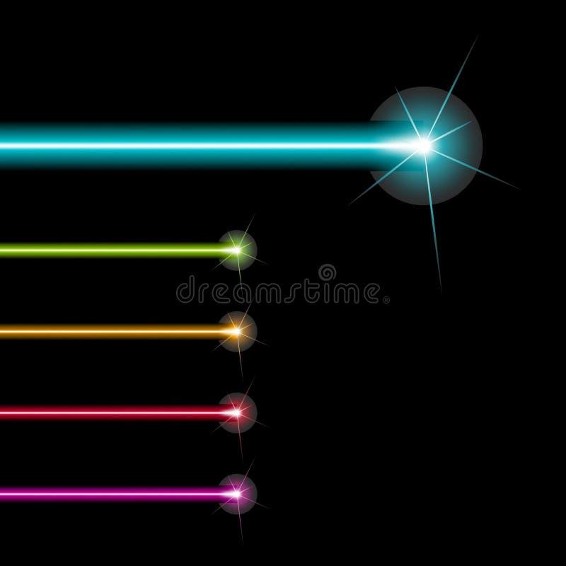 激光发出光线向量 库存例证