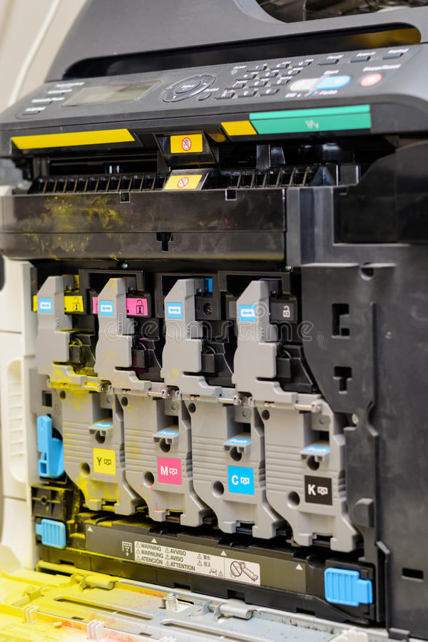 激光打印机的内在生活的看法 库存照片