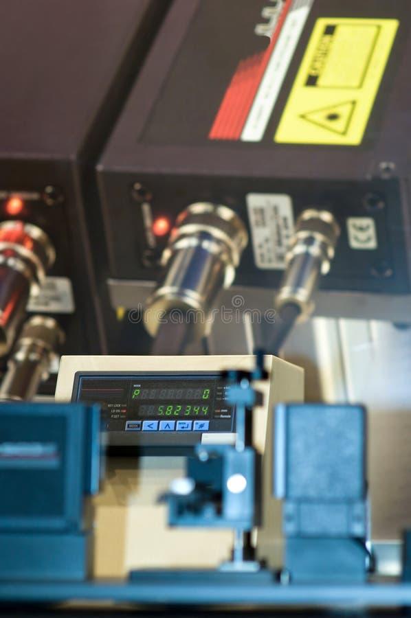 激光测微表扫描 免版税库存照片
