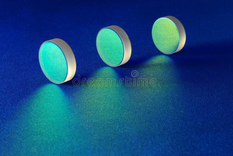激光线路镜子 图库摄影