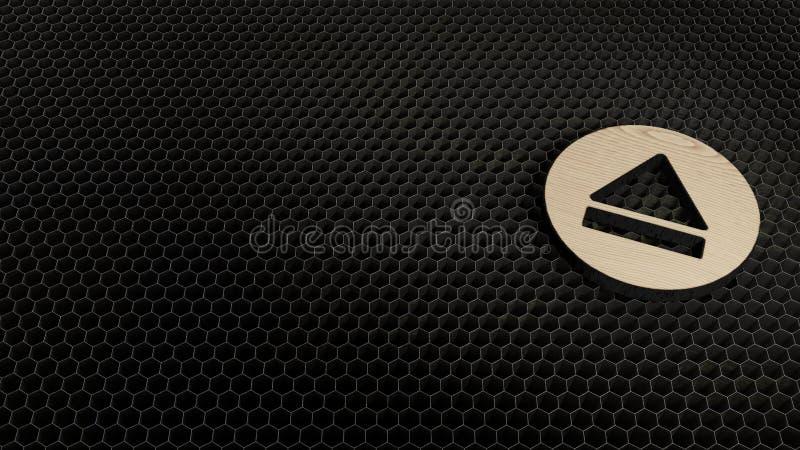 激光裁减胶合板标志抛出1 免版税库存图片
