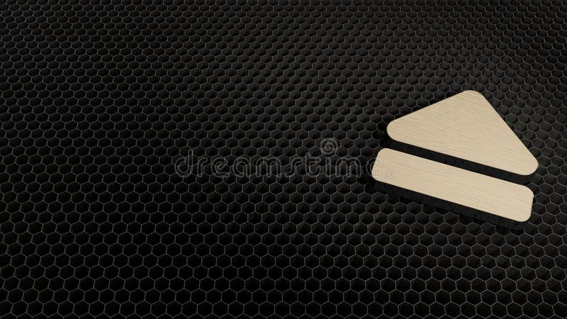 激光裁减胶合板标志抛出 免版税库存图片