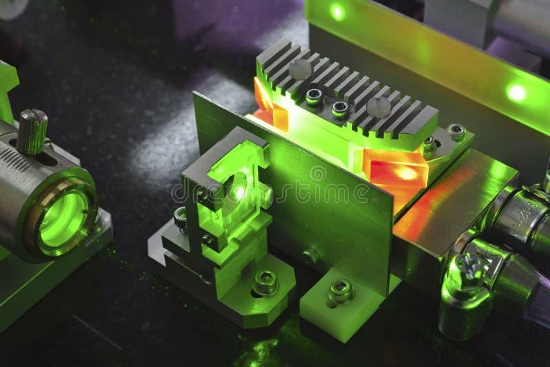 激光运算 库存图片