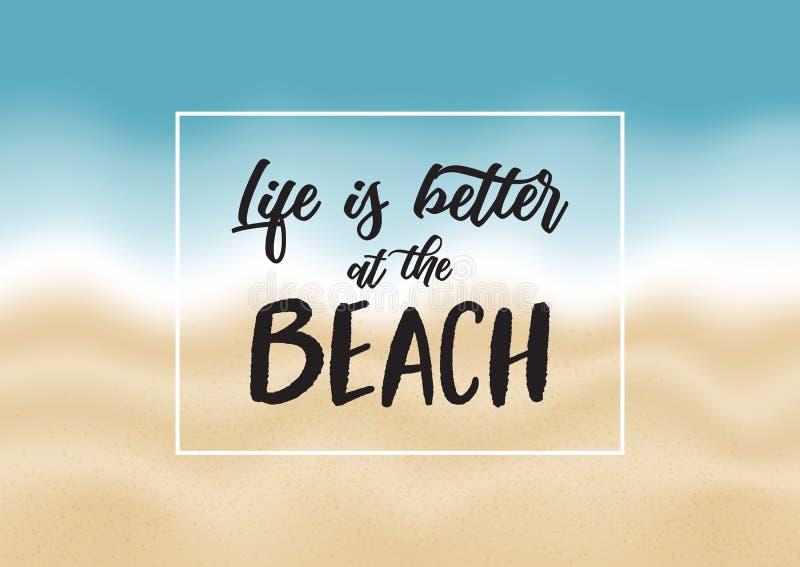 激动人心的海滩行情 库存例证