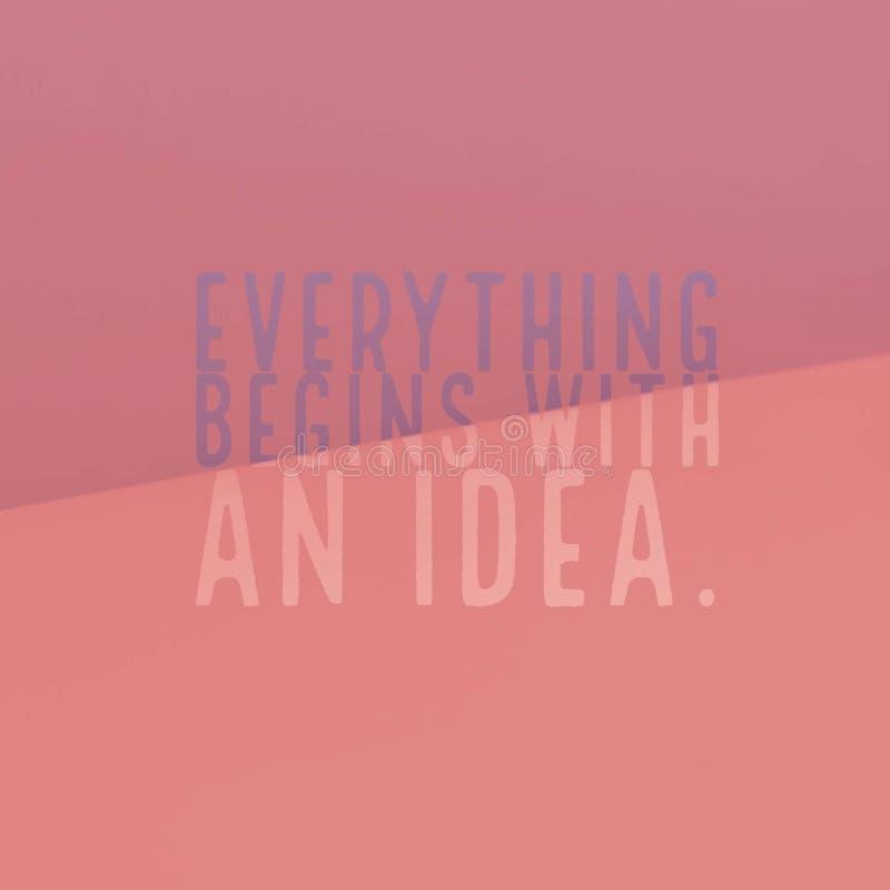 激动人心的诱导行情`一切从想法开始 ` 向量例证
