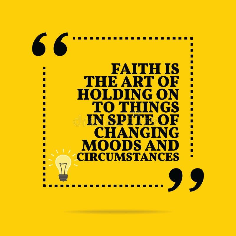 激动人心的诱导行情 信念艺术坚持 向量例证