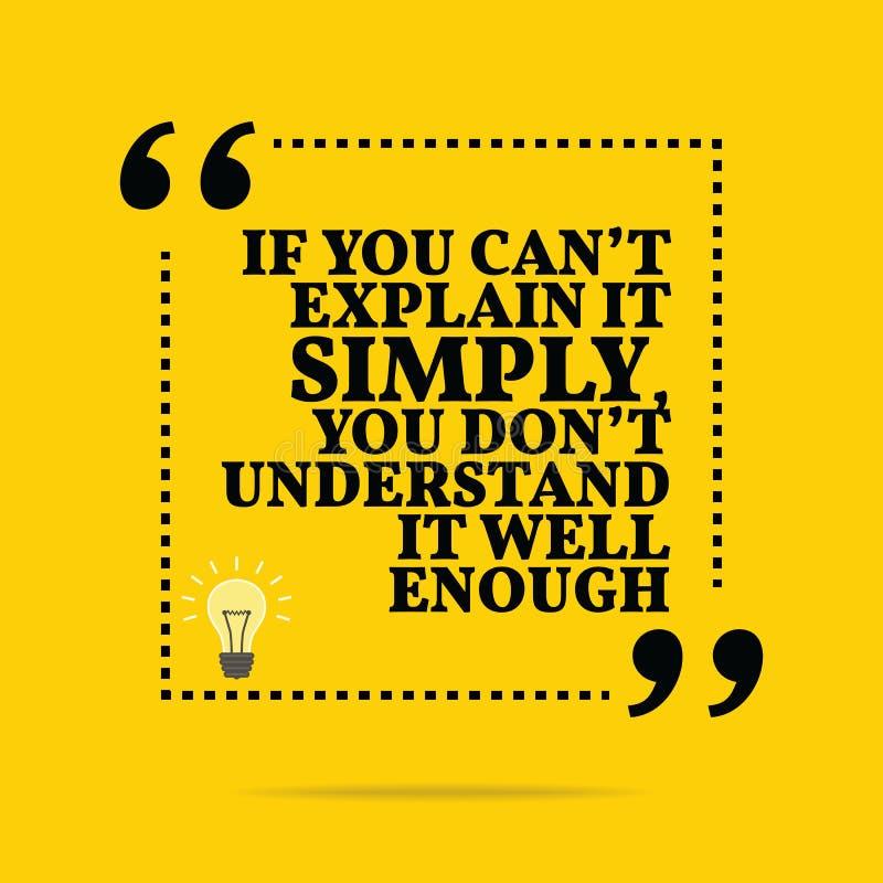 激动人心的诱导行情 如果您能` t解释它 库存例证