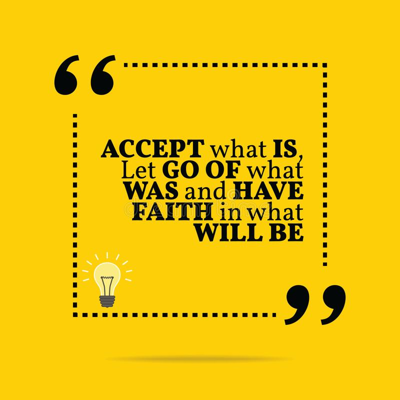 激动人心的诱导行情 接受什么是,放弃什么 向量例证