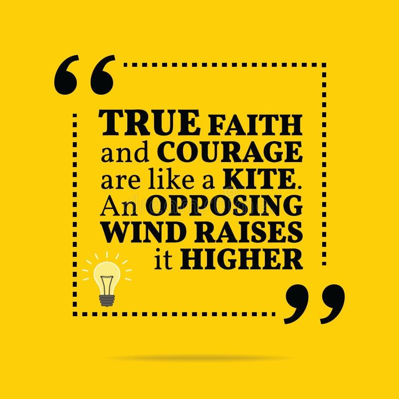 激动人心的诱导行情 真实的信念和勇气是lik 皇族释放例证