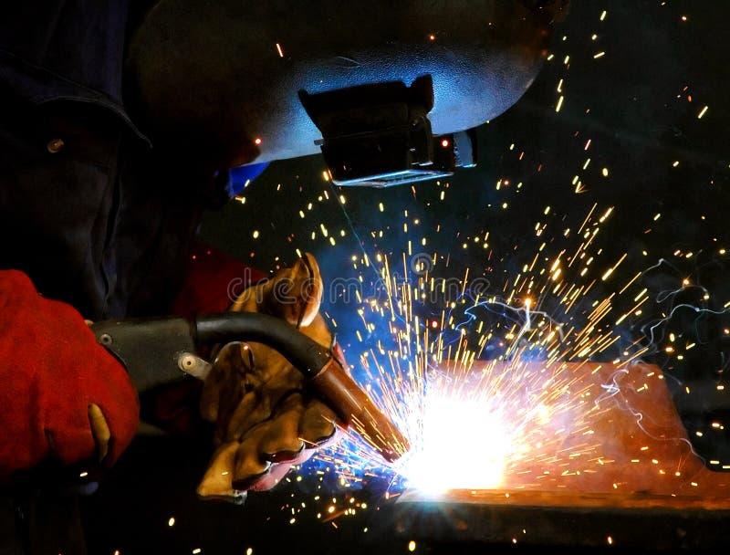 激发钢焊接 库存照片