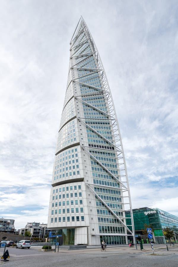激发马尔摩塞巴斯蒂安瑞典躯干启用的calatrava设计 免版税库存照片