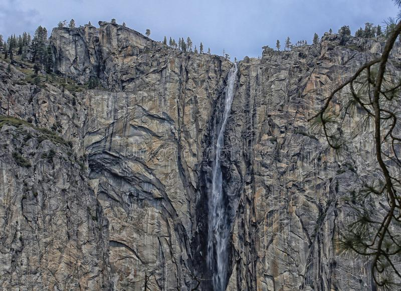 瀑布优胜美地国家公园加利福尼亚 免版税库存图片