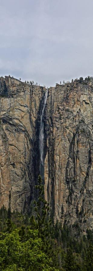 瀑布优胜美地国家公园 免版税图库摄影