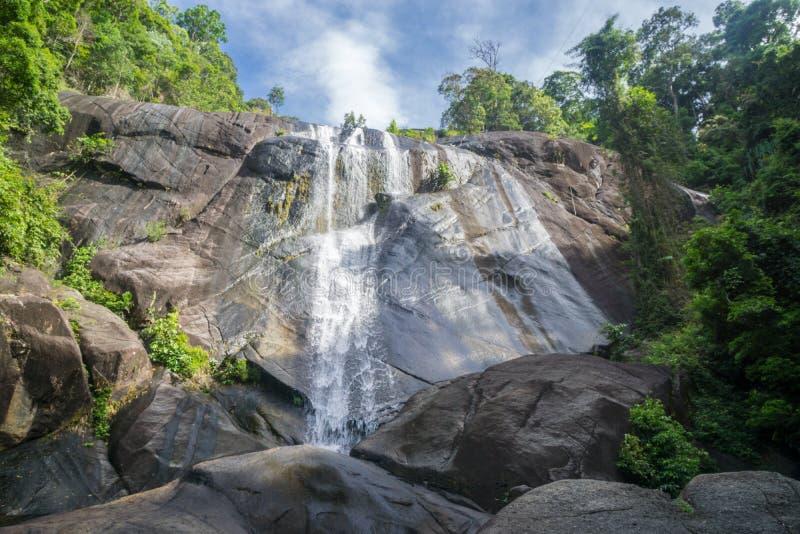 瀑布凌家卫岛马来西亚 库存照片
