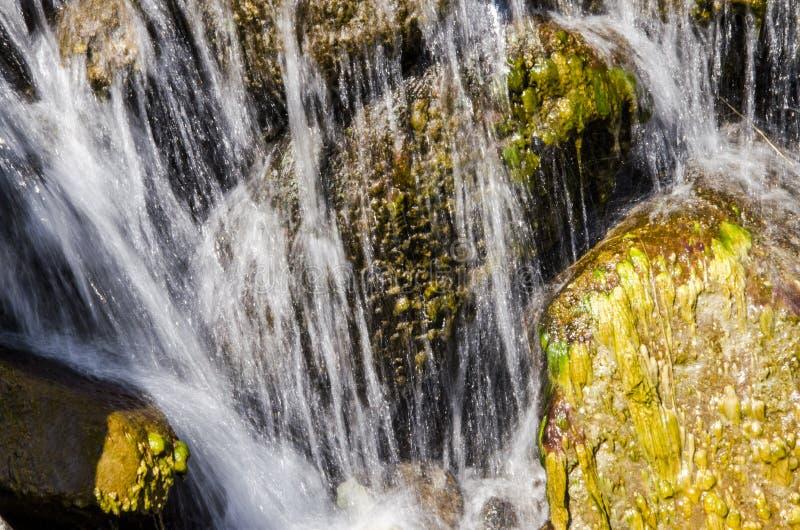 瀑布和春天在贺兰山 免版税图库摄影