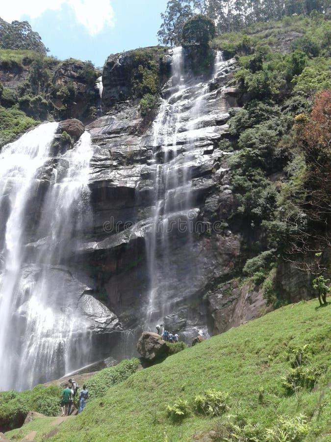 瀑布在努沃勒埃利耶,斯里兰卡 库存照片