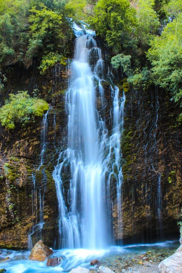 瀑布在土耳其,夏时 免版税库存照片