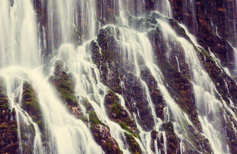 瀑布在土耳其 库存图片