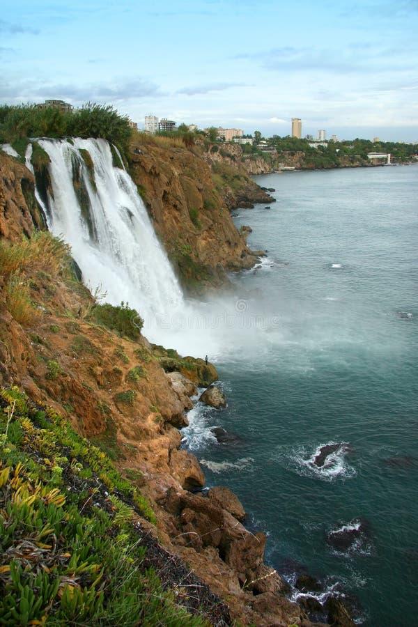 瀑布在安塔利亚 库存图片