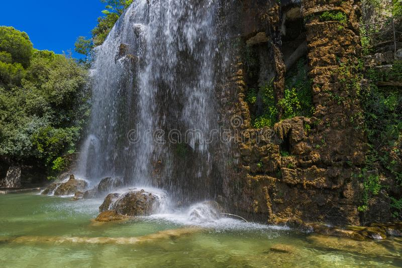 瀑布在尼斯法国 库存图片