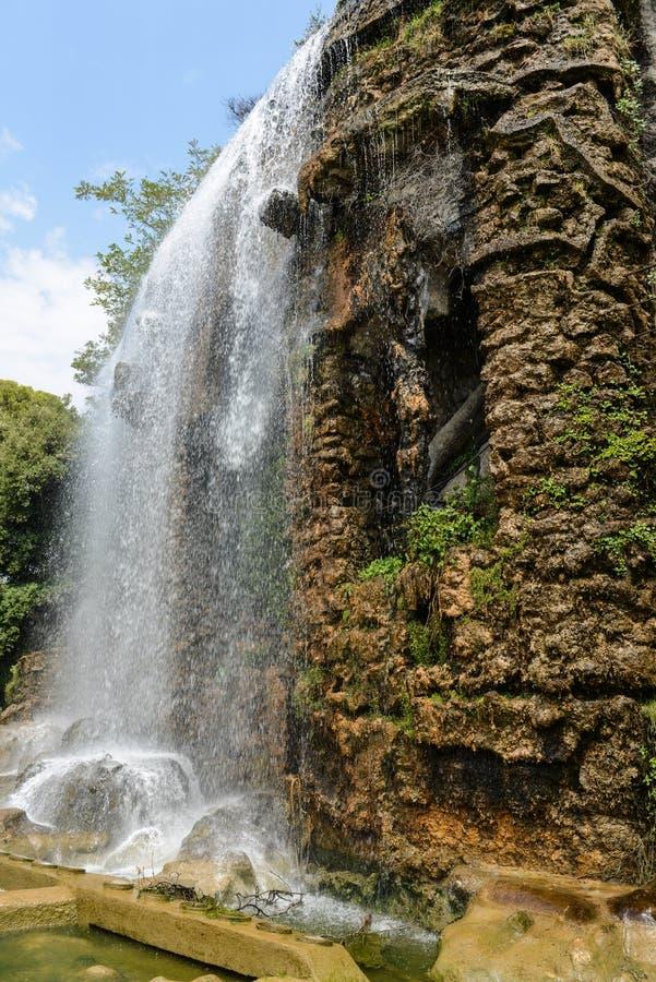 瀑布在尼斯法国 免版税库存图片