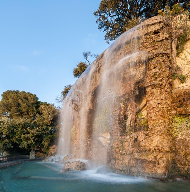瀑布在尼斯,法国 库存照片