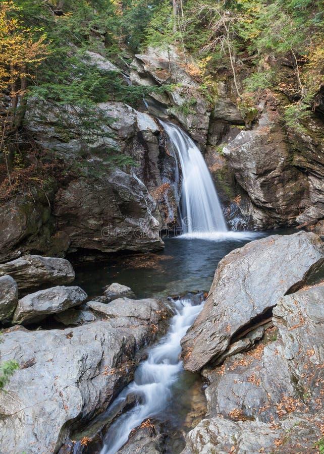 瀑布在森林 图库摄影