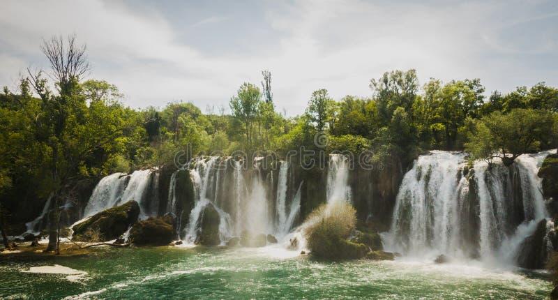 瀑布在波黑 图库摄影
