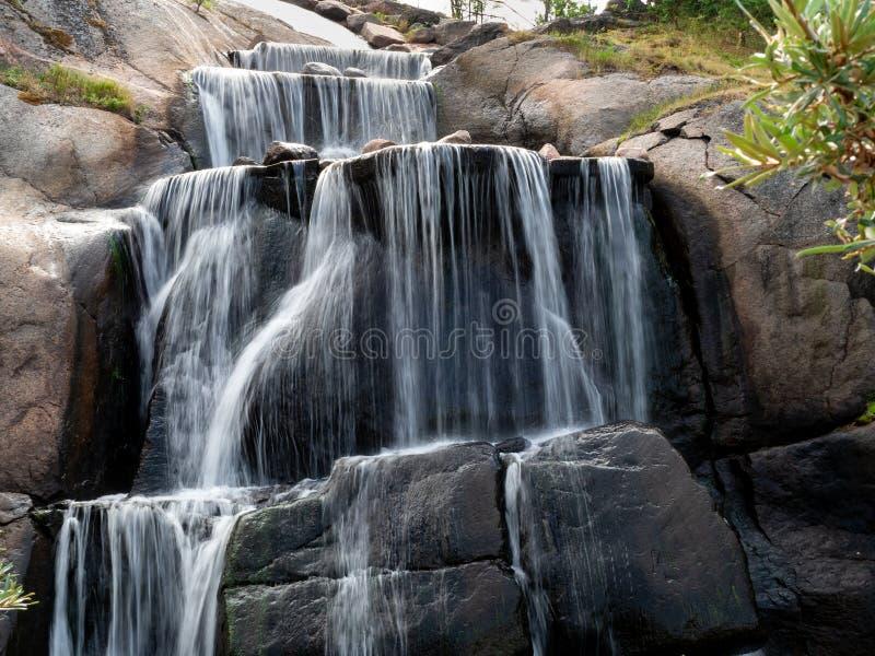 瀑布在科特卡,芬兰公园  库存图片