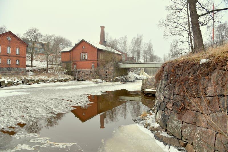 瀑布在芬兰 库存图片