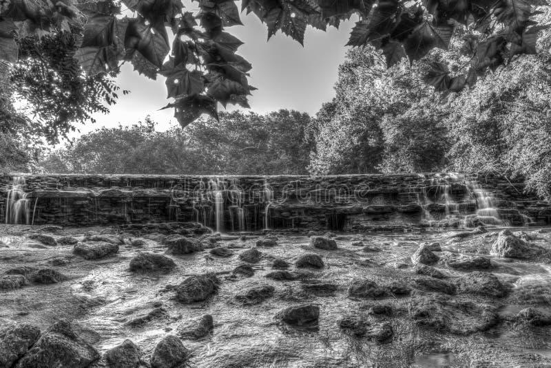 瀑布在莎朗森林公园,辛辛那提,俄亥俄 库存照片