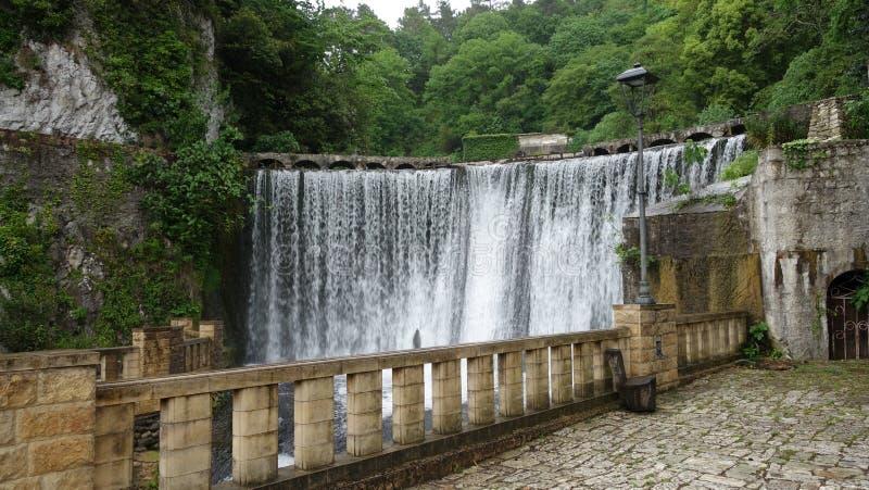 瀑布在阿布哈兹 库存照片