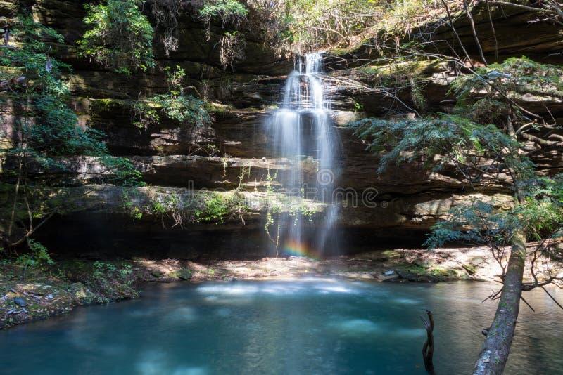 瀑布在bankhead国家森林里在阿拉巴马 免版税库存照片