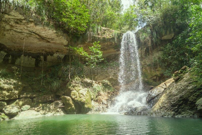瀑布在Gozalandia 库存照片