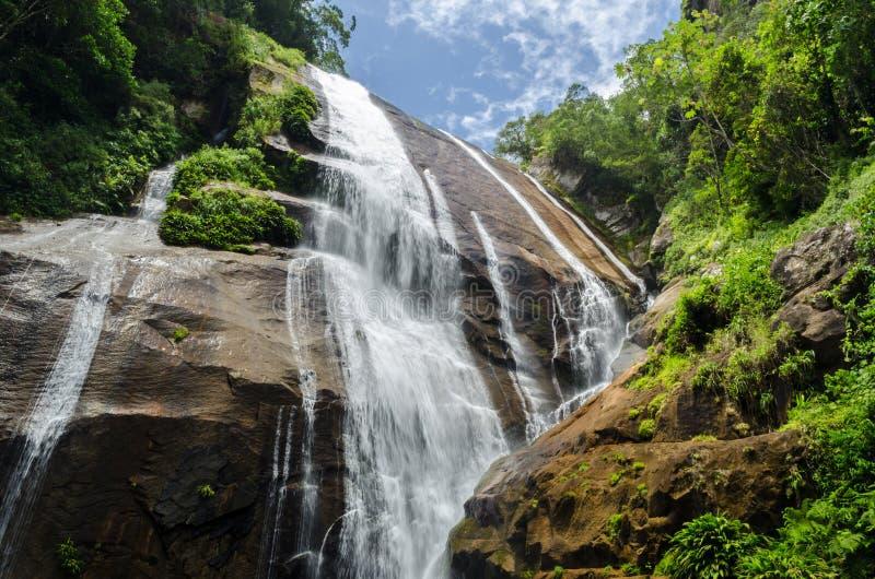 瀑布在Ilhabela,巴西 免版税图库摄影