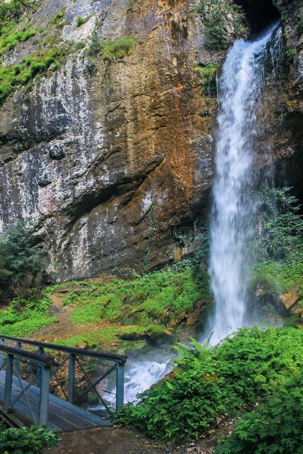 瀑布在Kakueta峡谷 库存照片