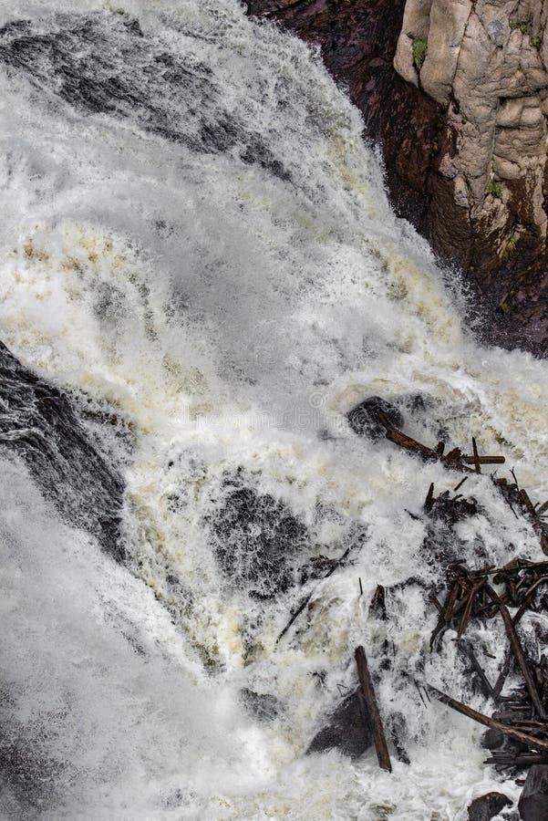 瀑布急流 库存照片